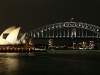 Harbour bridge et l'Opera de Sydney by night